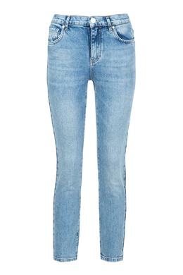 Голубые джинсы с отделкой кармана Pinko 2198146039