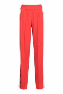 Красные брюки с лампасами и разрезами Pinko 2198145932