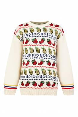 Джемпер с цветным узором Gucci Kids 1256146120