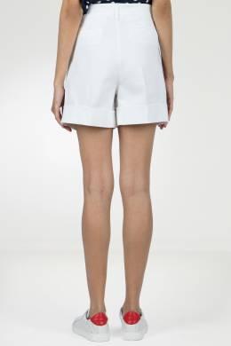 Белые шорты с подворотами и лампасами P.a.r.o.s.h. 393145991