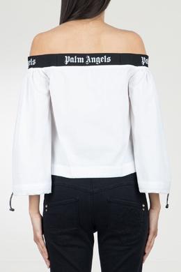 Белая блузка с открытыми плечами Palm Angels 1864145942