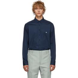Etro Blue Poplin Shirt 16365 3400