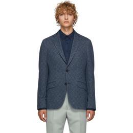 Etro Blue Morbida Regular Fit Blazer 1187Q 0197