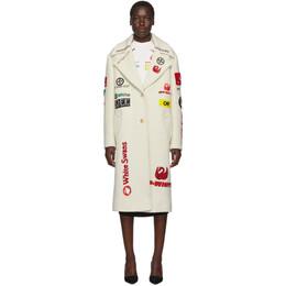 Off-White Off-White Multi-Logo Boyfriend Coat 192607F05900103GB