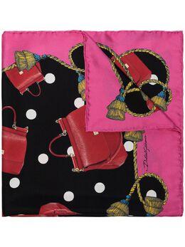 Dolce & Gabbana платок в горох с принтом FN092RGDK61