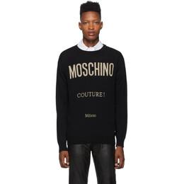 Moschino Black Couture Crewneck Sweater A 0928 5204