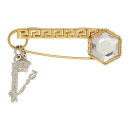 Versace Gold Crystal Virtus Brooch 192404F02101101GB