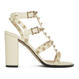 Valentino Off-White Valentino Garavani Rockstud Sandals 192476F12500307GB
