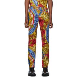 Moschino Multicolor Roman Scarf Jeans 192720M19100104GB