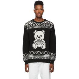 Moschino Black Alpaca Teddy Crewneck Sweater 0901 5202