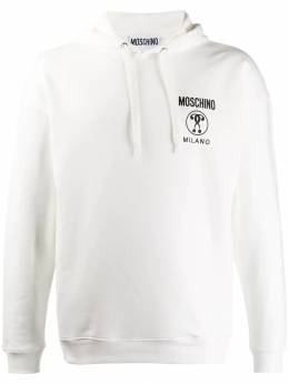 Moschino свитер с капюшоном и принтом A17065227
