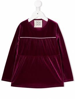 Douuod Kids расклешенная блузка с длинными рукавами TE013509