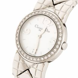 Christian Dior White Mother of Pearl Diamonds Chris Collection D86-101 Women's Wristwatch 24 mm 218099