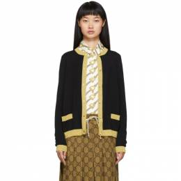Gucci Black Lurex Cardigan 501402 X9M84