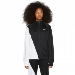 Nike Black and White Asymmetric Colorblocked Jacket BV5287-010