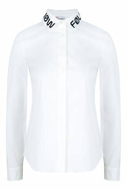 Белая рубашка с вышивкой на воротнике Red Valentino 986146875