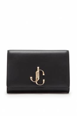 Черный кожаный клатч Varenne Jimmy Choo 25147057