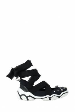 Черные кроссовки с широкими завязками Red Valentino 986146865