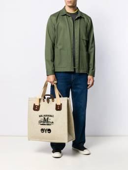 Junya Watanabe Man сумка-шопер с надписью WDK291W19