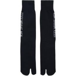 Issey Miyake Men Black Tabi Socks 192728M22000701GB