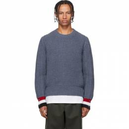 Thom Browne Blue Funmix Stitch Chunky Sweater MKA252A-00014