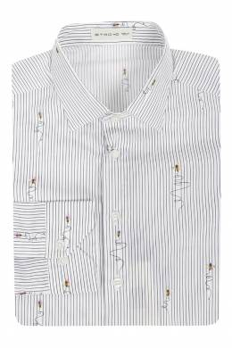 Рубашка в полоску с рисунками Etro 907145287