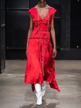 Платье Из Шелкового Атласа Marni 70I1KI004-MDBSNjY1