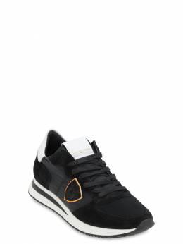 Кроссовки Из Замши И Нейлона Philippe Model 70IAJK007-VzAxMQ2