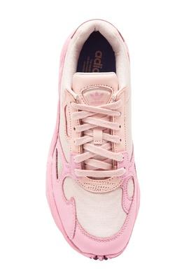 Розово-белые кроссовки Falcon Adidas 819147001