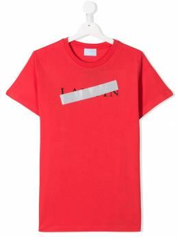 Lanvin Enfant футболка с логотипом 4K8021KA050