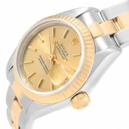 Rolex Champagne 18K Yellow Gold and Stainless Steel Datejust 69173 Women's Wristwatch 26MM 219127