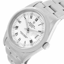 Rolex White Stainless Steel Date 15200 Men's Wristwatch 34MM 219057