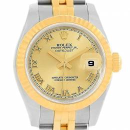 Rolex Champagne 18K Yellow Gold and Stainless Steel Datejust 179173 Women's Wristwatch 26MM 219102
