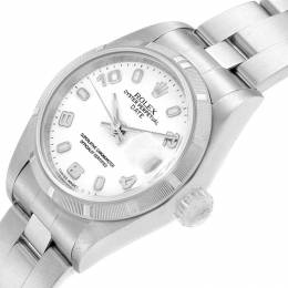 Rolex White Stainless Steel Date 79190 Women's Wristwatch 25MM 219082