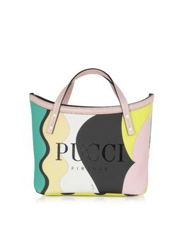 Двухцветная Сумка Tote из Ткани Emilio Pucci 9RBC47 9R220 007 SMERALDO/MENTA