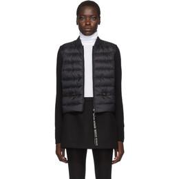 Moncler Black Knit Down Jacket E20939457100A9106