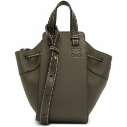Loewe Green Mini Hammock Drawstring Bag 192677F04811001GB