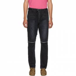Sacai Black Belted Jeans 192445M18600103GB