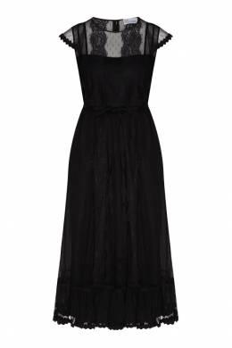 Черное платье с сеткой Red Valentino 986146937