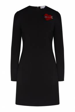 Черное платье с декором Red Valentino 986146934