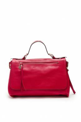 Красная кожаная сумка с люверсами Red Valentino 986147023