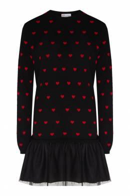 Комбинированное платье с узором Red Valentino 986146941