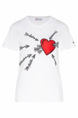 Белая футболка с принтом Red Valentino 986146957