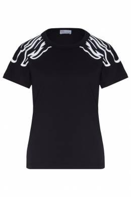 Черная футболка с рисунком Red Valentino 986146956