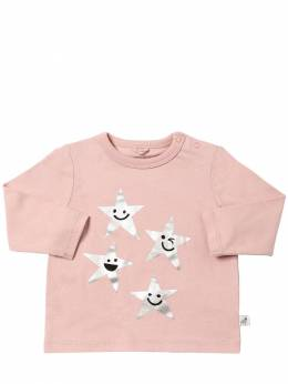 Футболка Из Хлопкового Джерси С Принтом Stella McCartney Kids 70I6SG020-NTc2OQ2