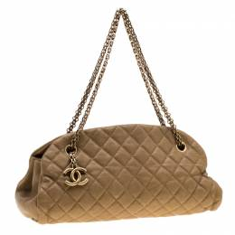 Chanel Gold Leather Just Mademoiselle Bowling Bag 200971