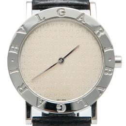Bvlgari Beige Pattern Dial Stainless Steel Bvlgari Watch 33MM
