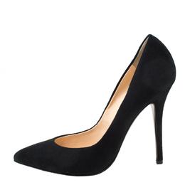 Giuseppe Zanotti Design Black Suede Pointed Toe Pumps Size 38.5 218409