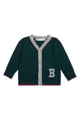Темно-зеленый кардиган на пуговицах Bonpoint 1210147411