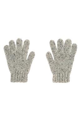 Серые перчатки с темными вкраплениями Bonpoint 1210147558